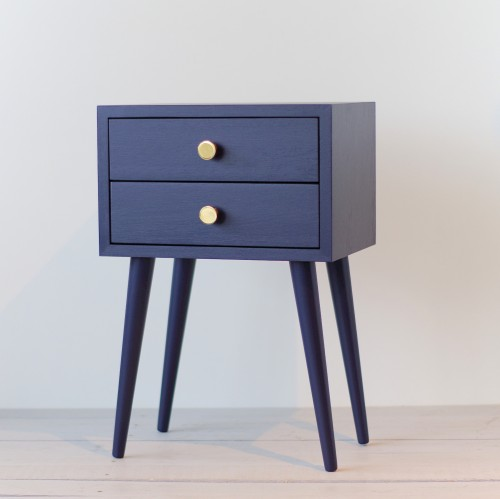 Bedside Table with drawer, NORD-04-SBlue
