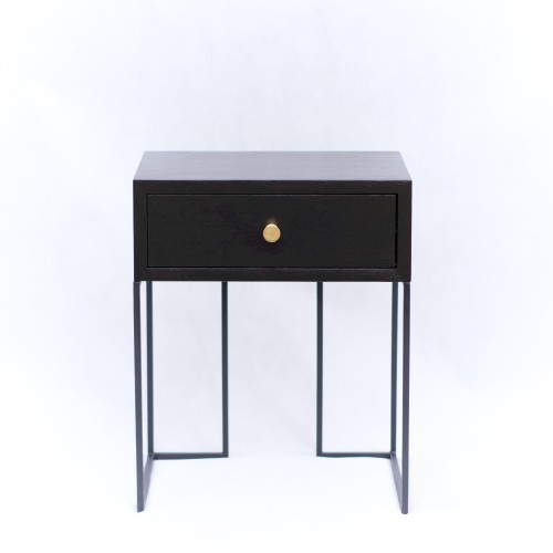 Black bedside cabinet, NO-02-NB