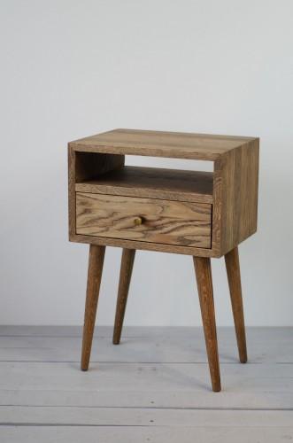 Solid Oak Bedside Table, NO-03-ES