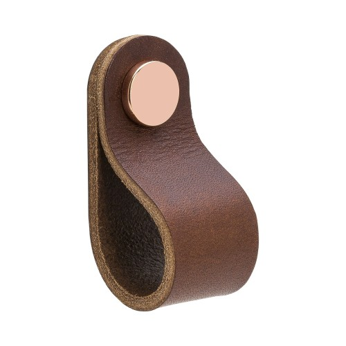 Handle LOOP Round-333232-11 leather brown