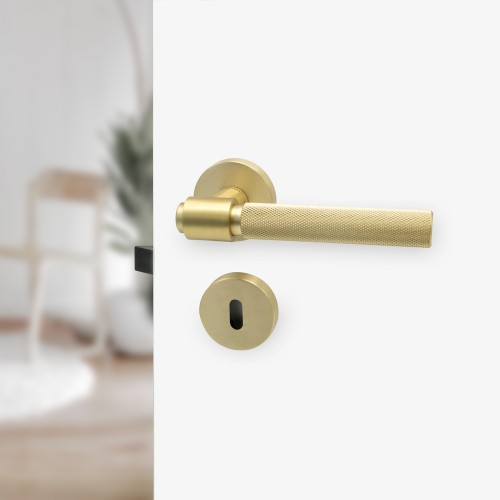 Helix 200 Door Handle 751012-41E brushed brass