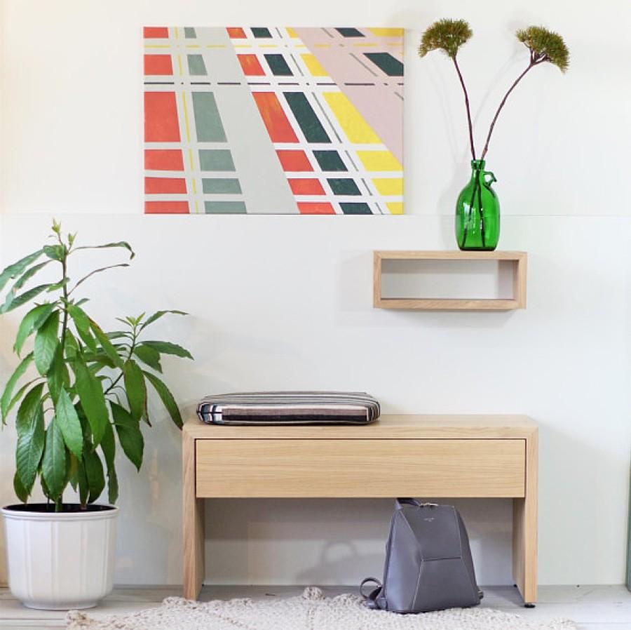Solid Oak Wood Shelf, NO-05-EN