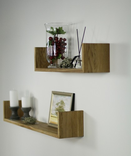 Set of wall oak shelf natural oiled GR60
