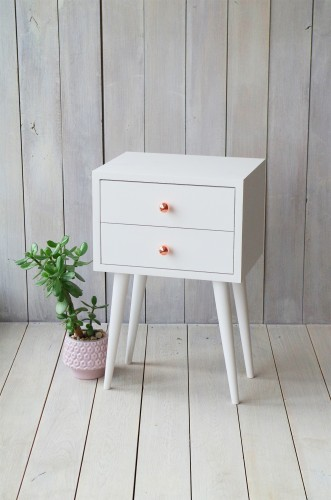 Oak white bedside table NO-04-EPW